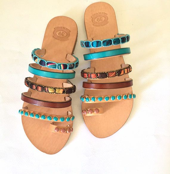 Leather Strappy Sandals Cuba Libre Greek Sandals
