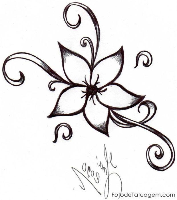Desenhos Para Tatuagem De Flores Esbocos De Flor Desenhos