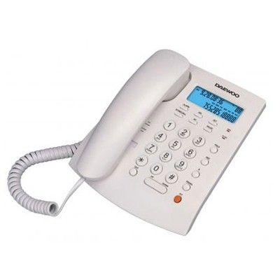 TELEFONO DAEWOO DTC-310 SOBREMESA ANALOGICO. Manos libres, pantalla LCD retroiluminada Identificador y transferencia de llamadas,16 melodías, 1 tecla llamada directa y 10 indirectas. Música en espera, indicador luminoso en pantalla de llamada perdida, marcación por tonos, rellamada y llamada automática .3 posiciones de bloque y 4 niveles de volumen para el manos libres. Montaje en pared. Alimentación 3 pilas AAA. Medida: 195x166x58 mm.
