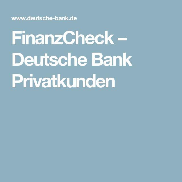 FinanzCheck – Deutsche Bank Privatkunden