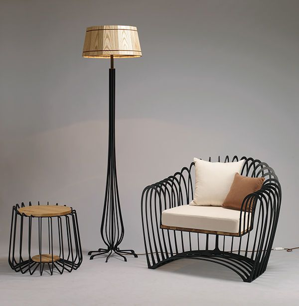 wireframe furniture - The stiff material that composes this set of wireframe furniture might have made the individual pieces look sharp; however, designer Jihye Choi man...