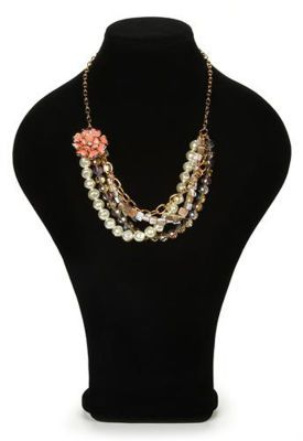 #Glam Collection Gold Chain & Pearls #Necklace