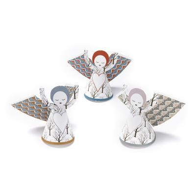 Avercamp angels  The design of this product is inspired by 'Winter Landscape with Skaters', c. 1608 by Hendrik Avercamp