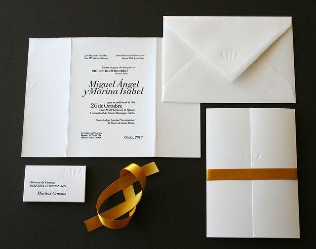 Marina & Miguel wedding invite | Flickr - Photo Sharing!