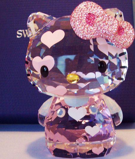 Swarovski Pink Crystal Hello Kitty Figurine
