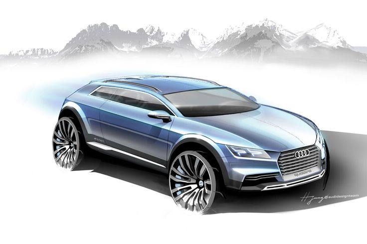 Audi crossover concept official sketches
