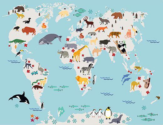 Naklejka Mapa do rysowania Zwierzęta