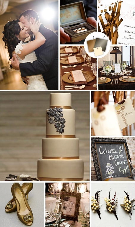 Pewter and navy wedding