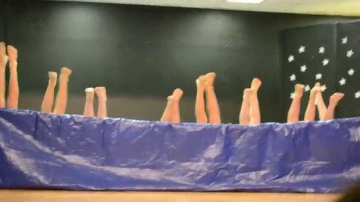 5th grade boys Synchronized Air Swimming Talent Show Skit W A Porter Ele...