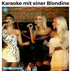 Karaoke mit einer Blondine – Blondinenwitze