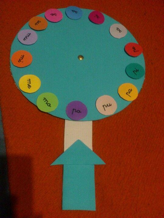 INICIO LECTOESCRITURA: La rueda de las sílabas
