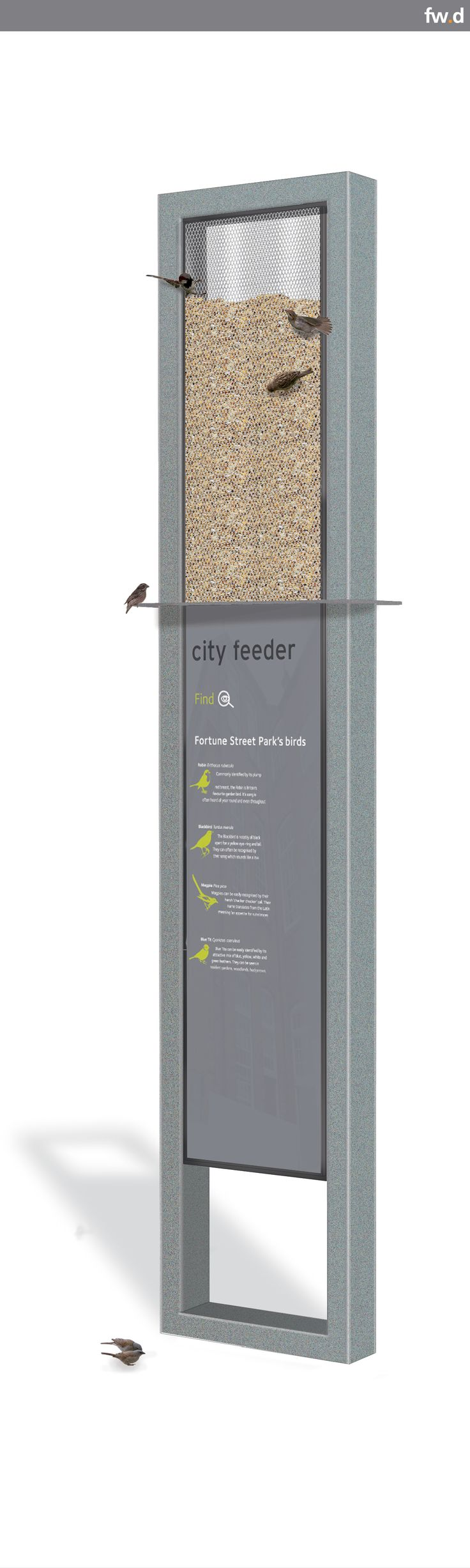 frank city bird feeder by fwdesign