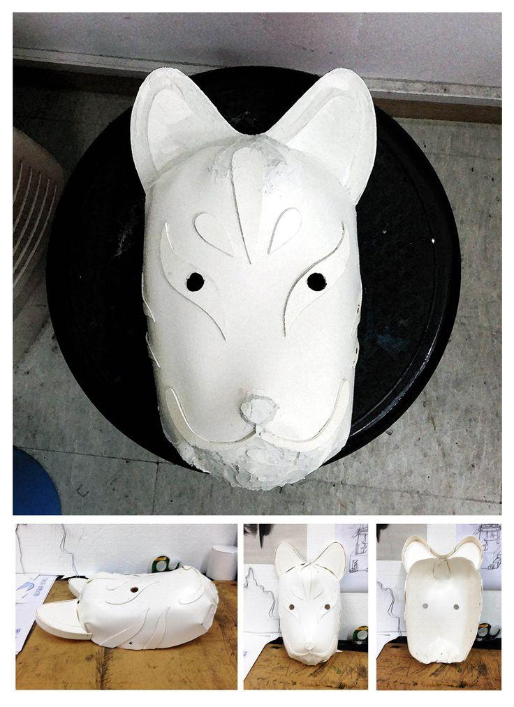 포멕스1T로 일본 여우가면 만들기 (1.초벌작업) ~ 포멕스1T/4절 1장, 순간접착제,열풍기.