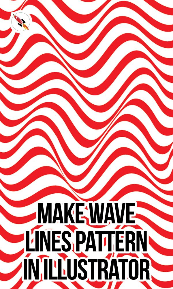 How To Create Line Waves Pattern In Adobe Illustrator In 2020 Illustrator Tutorials Adobe Illustrator Tutorials Wave Pattern