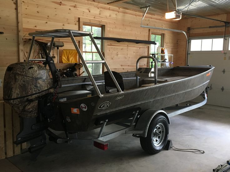 Fish On Fabrications poling platform and grab bar console | Boat ideas | Pinterest | Boat, Bar ...