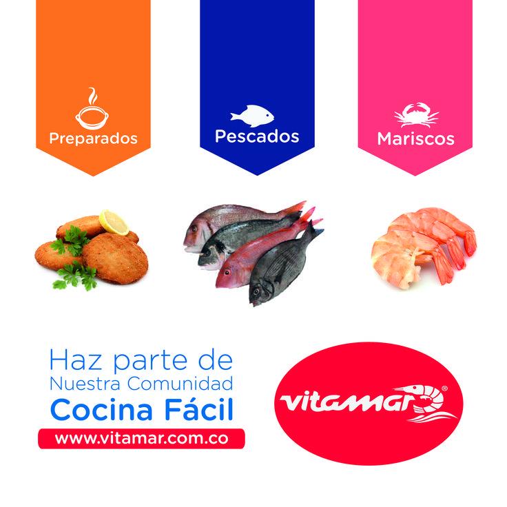 Conoce nuestras lineas de producto especializadas en preparados, pescados y mariscos, síguenos en nuestra web www.vitamar.com.co y en las redes como #VitamarPescados para que no te pierdas las recetas #CocinaFácil