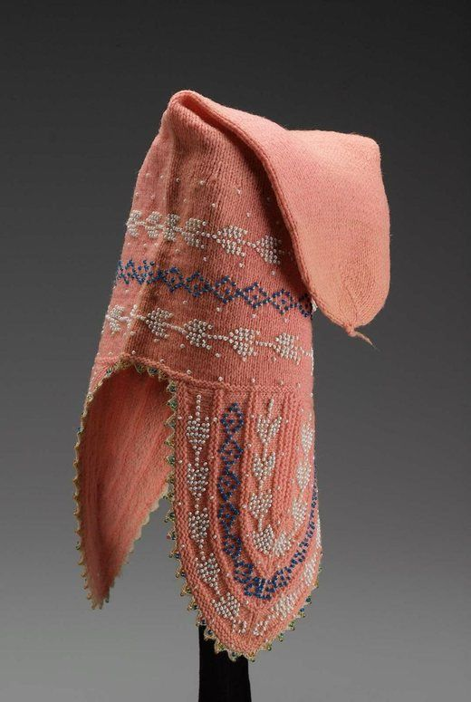 bead knitted wool cap, Bolivia, late 19th century-early 20th century