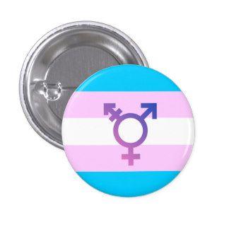 Transgender Symbol Pride Flag Button