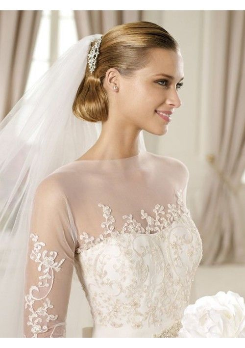 tulle-and-lace-illusion-jewel-neckline-a-line-style-with-34-illusion-sleeves-2013-wedding-dresses-559145