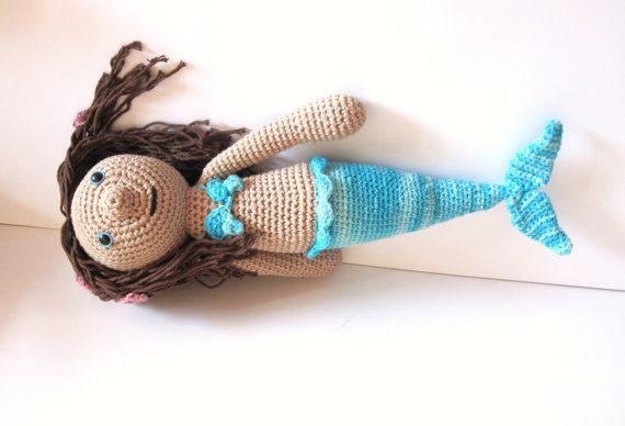 Mermaid amigurumi. Handmade crochet doll. Fairy by HimawariLand, €44.00