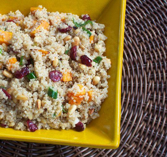 Passover friendly quinoa salad.: Crunch Quinoa, Sweets, Pine Nuts, Food, Quinoa Salad, Sweet Potatoes, Passover Recipes