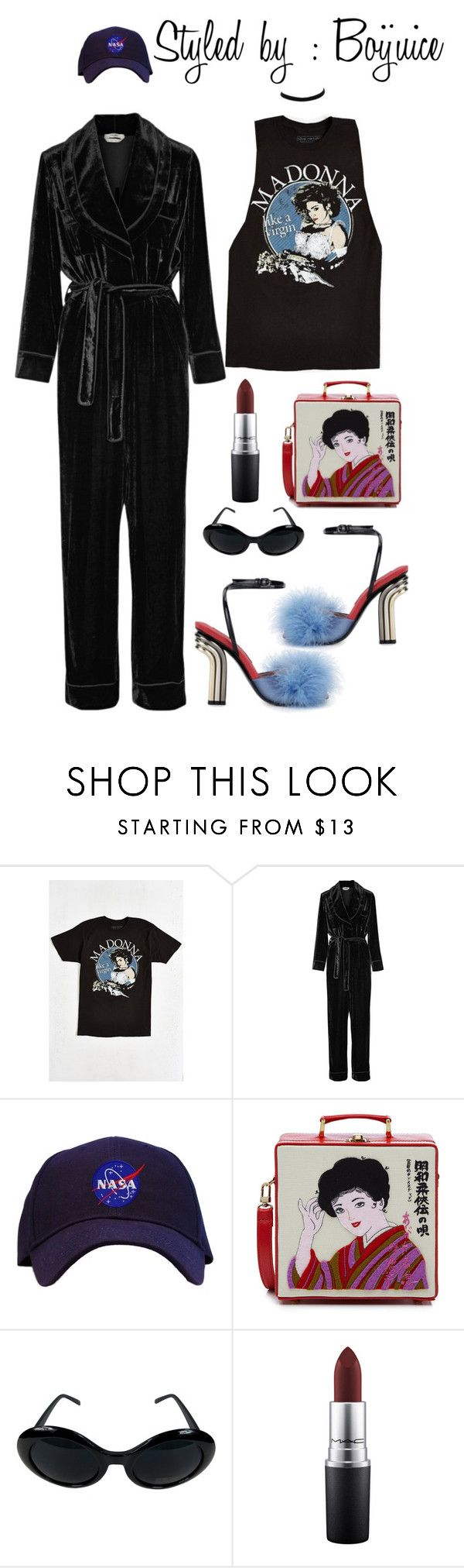 """""""Night life 2016"""" by boijuice ❤ liked on Polyvore featuring Urban Outfitters, Fendi, Olympia Le-Tan, MAC Cosmetics and River Island"""