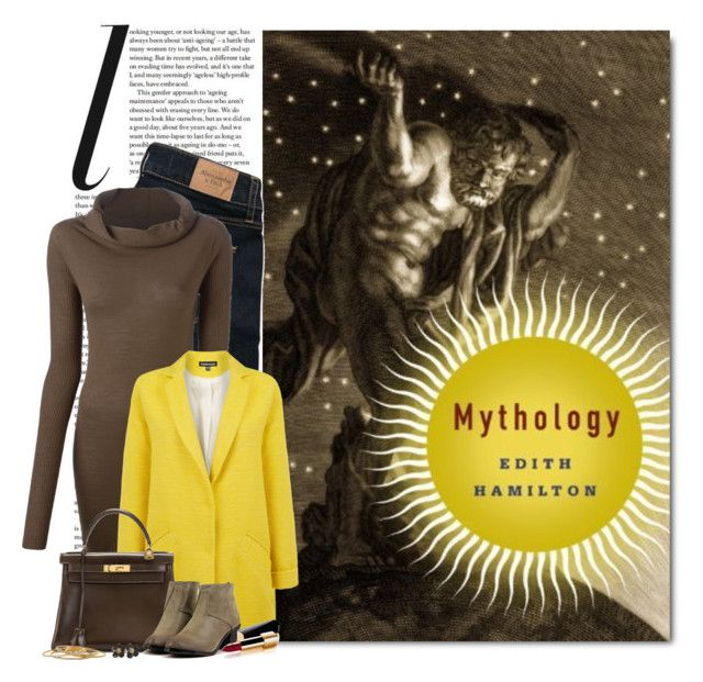 """""""Mythology by Edith Hamilton"""" by ameve ❤ liked on Polyvore featuring Abercrombie & Fitch, Rick Owens, Warehouse, Hermès and Chanel"""