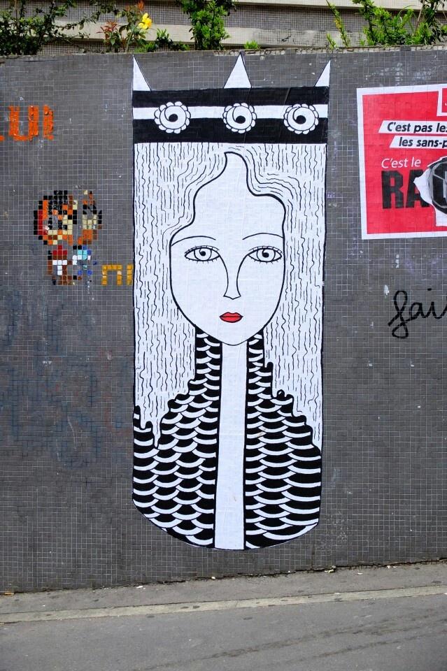 Fred le chevalier - street art - Paris 20 - rue Ménilmontant