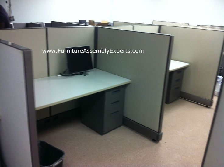 used office cubicle assembled in baltimore md by furniture assembly