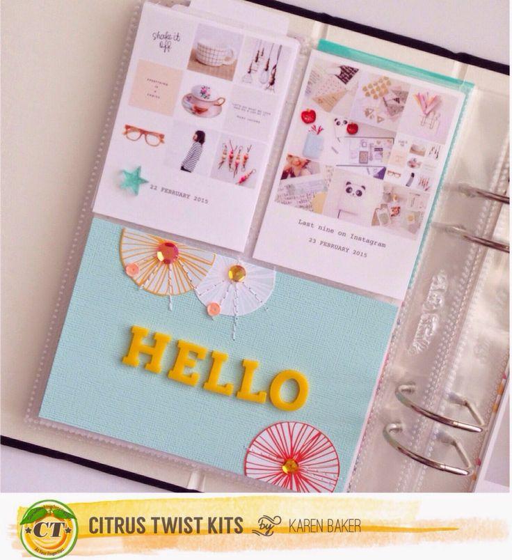 Hello. April Citrus Twist Kits Layouts