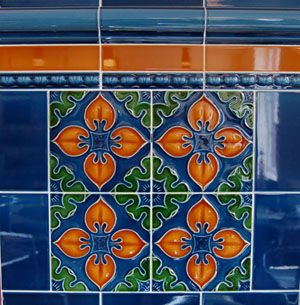 Go colourful with Victorian porch tiles. These tiles are suitable for exterior use but can be used anywhere.