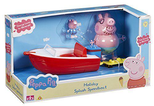 Peppa Pig – Le Bateau Hors-Bord des Vacances – Véhicule et Figurines: Retrouve Peppa et ses amis pour de nouvelles aventures à la plage…