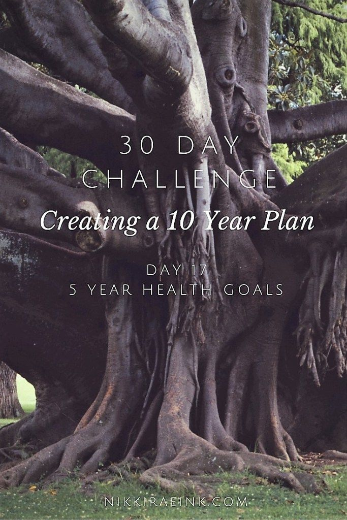 30 Day Challenge: Creating a 10 Year Plan, Day 17 5 Year Health Goals