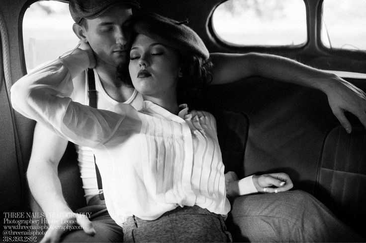 "A great ""Bonnie & Clyde"" engagement session by Three Nails Photography <3"