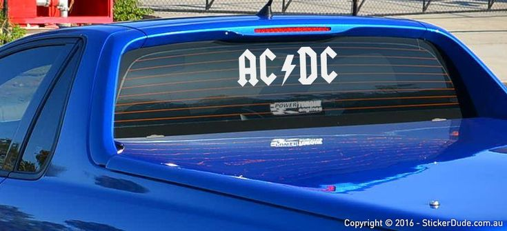ACDC Sticker | Worldwide Post | Range Of Sticker Colours