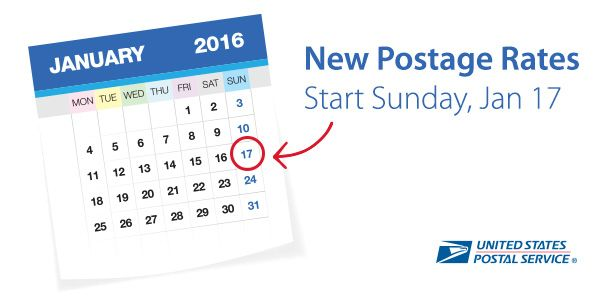 Stamps.com Blog » USPS Announces Postage Rate Increase – Starts January 17, 2016