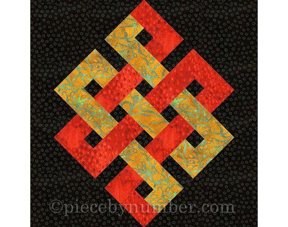 Eternity Knot quilt block paper piecing quilt patterns PDF