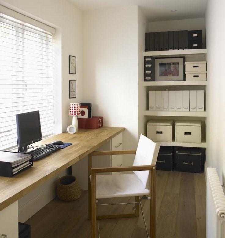 25 beste idee n over kleine ruimte kantoor op pinterest - Versieren kantoor ...