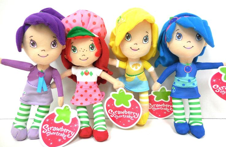 Strawberry shortcake plush and friends blueberry muffin plum pudding