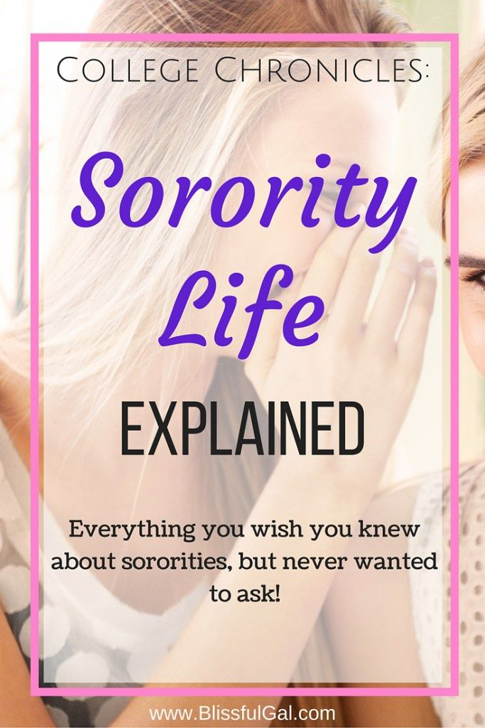 "Sorority Life Explained - Sororities seem to be a huge mystery on campus. You ask one of your friends about them, but they can't let you in on the ""secrets."" Television and movies have greatly idealized Greek life, making us not know what's truth and what's a lie. Well, if you are still curious about Greek life, check out this post that explains everything!"