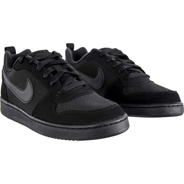 Sportowe Damskie Nike Nike Czarne Court Borough Low Gs 001 Black Black Black Nike Black Nikes Sneakers Nike