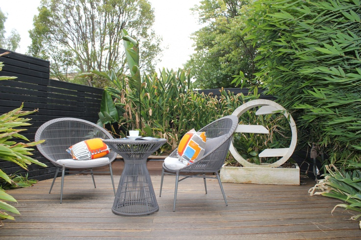 """""""A cup of tea and the paper in solitude on the parents retreat deck""""  Balwyn House"""