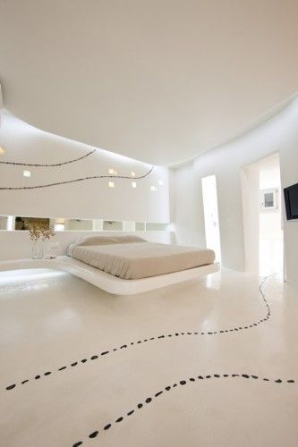 Greek firm, KLab Architecture, has designed a series of suites for Mykonos, one of the most popular summertime destinations