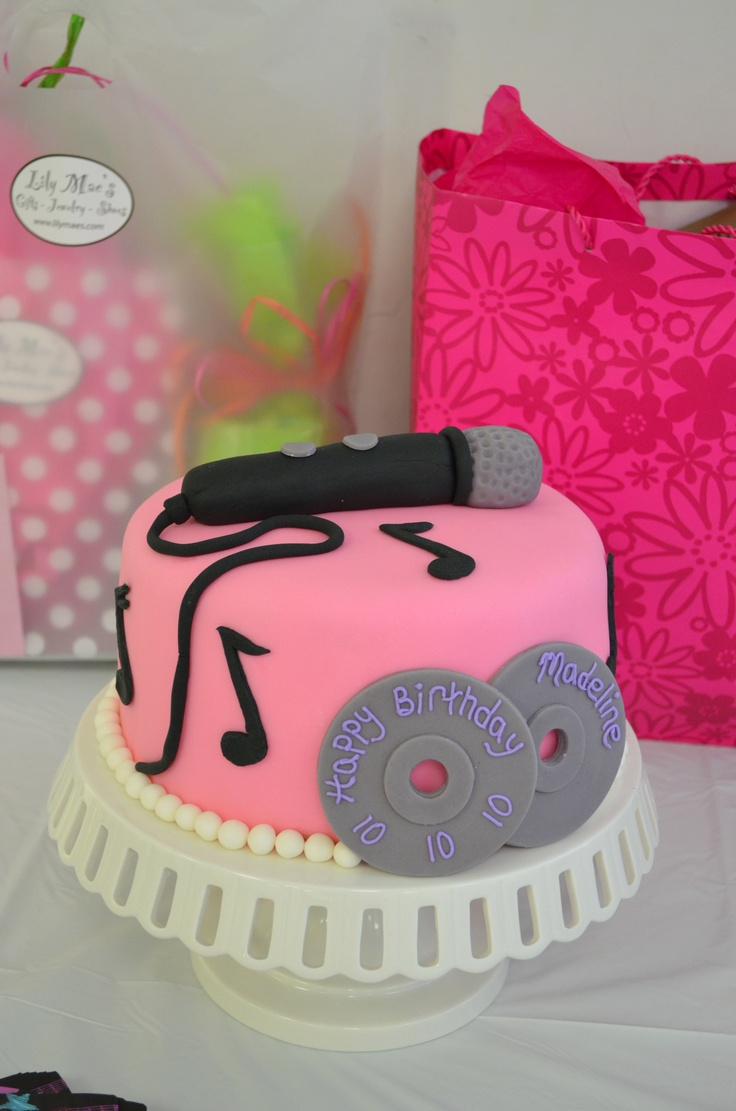 33 Best Karaoke Cakes Images On Pinterest Karaoke Cake