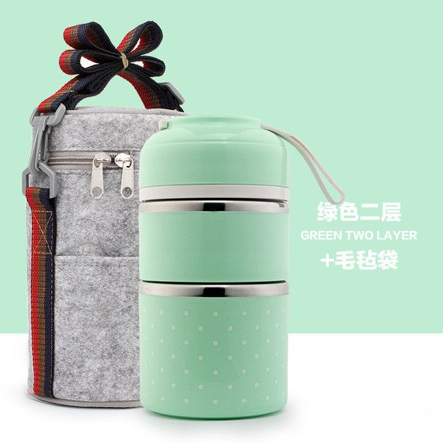 Portable Cute Mini Japanese Bento Box Thermal Insulation Leak-Proof Stainless Steel Lunch Box Food Fruit Storage For Kids Picnic