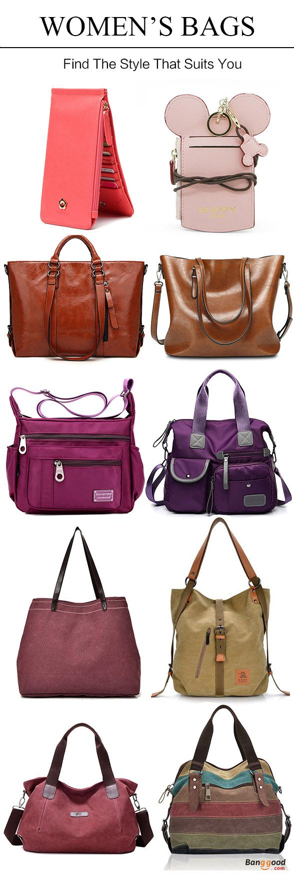 Women's bags, handbags, crossbody bags, wallets, purses, clutch bags, backpacks, and so on. Choose from a variety of styles, Get the look!
