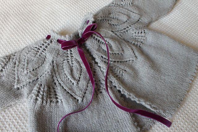 Ravelry: lindsaymudd's Vintage Leaf Matinee Coat ... again!