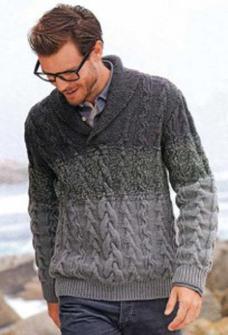 MADE TO ORDER Sweater aran men hand knitted by LuxuryKNITTING2013, $220.00