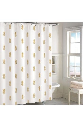 Free shipping and returns on Destinations Golden Pineapple Shower Curtain at Nordstrom.com. Instantly refresh your bathroom with this cotton shower curtain patterned in gilt pineapples for a cool, tropical-inspired look.
