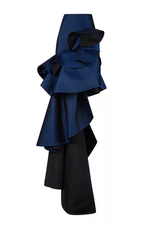 Duchesse Evening Skirt With Tiered Ruffle Detail by Antonio Berardi for Preorder on Moda Operandi